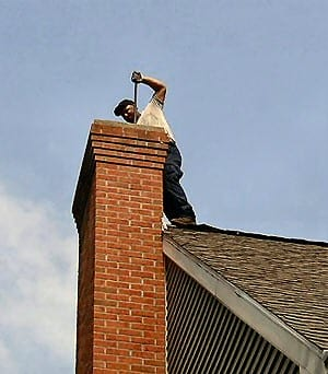 Image of cleaning chimney