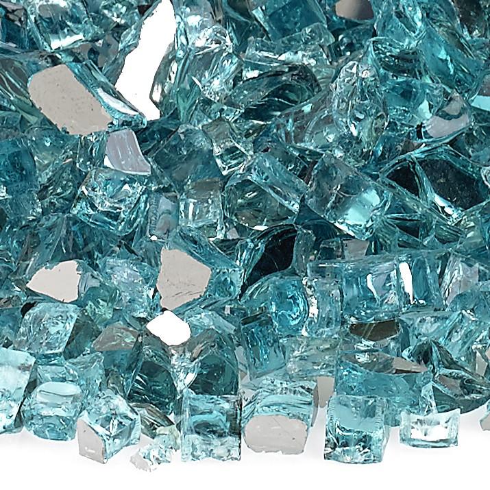 1/4″ Azuria Reflective Fire Glass Image