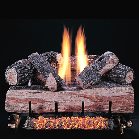 C2 Double Burner with Oak Logs Image