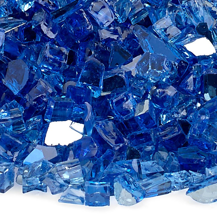 1/4″ Cobalt Reflective Fire Glass Image