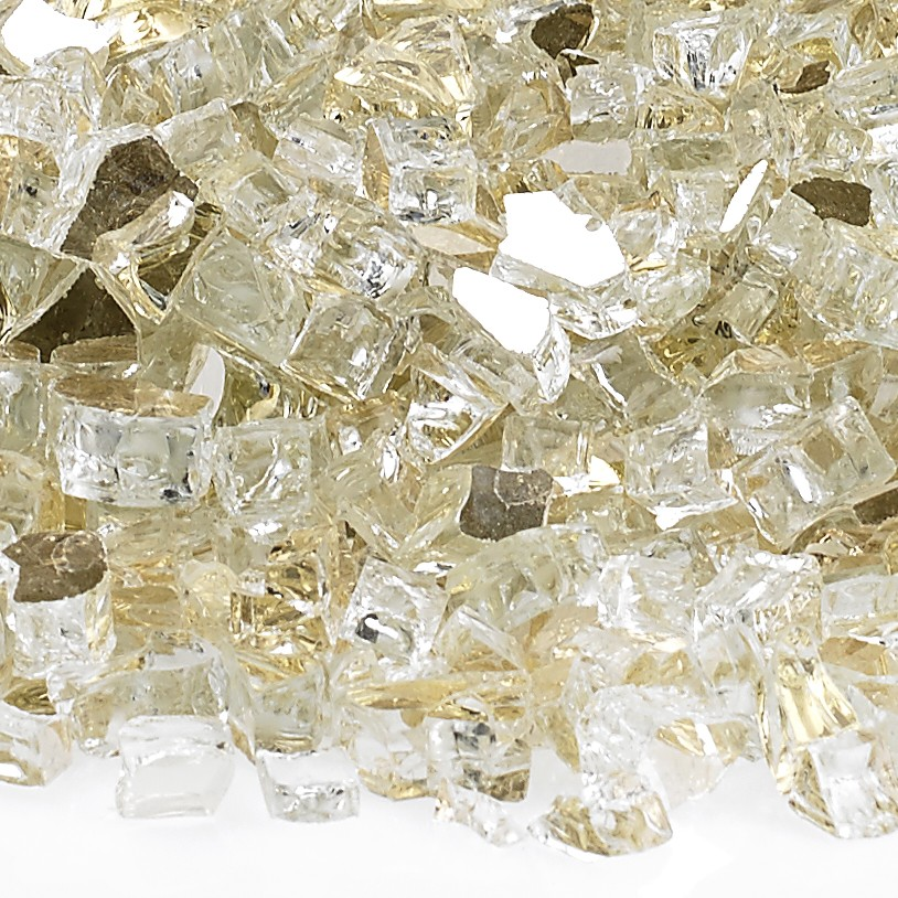 1/4″ Gold Reflective Fire Glass Image