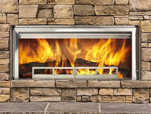 Longmire Wood-Burning Fireplace Image