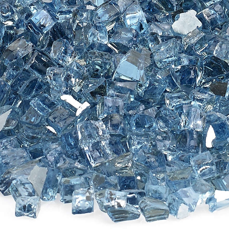 1/4″ Pacific Blue Fire Glass Image
