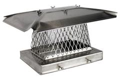 Solid Frame Chimney Cap - 304 Stainless Steel - Stackable 3/4 Image