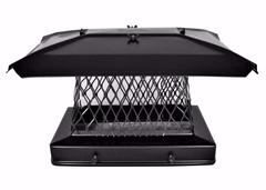 Solid Frame Chimney Cap - Black Powder Coated - Stackable 3/4 Image